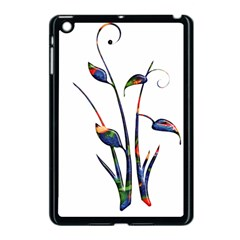 Flora Abstract Scrolls Batik Design Apple Ipad Mini Case (black) by Nexatart