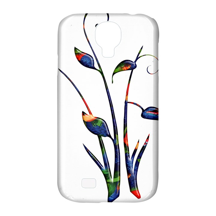 Flora Abstract Scrolls Batik Design Samsung Galaxy S4 Classic Hardshell Case (PC+Silicone)