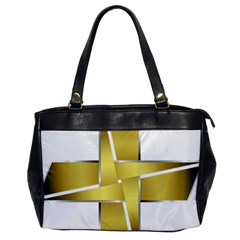 Logo Cross Golden Metal Glossy Office Handbags by Nexatart