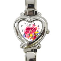 Heart Red Love Valentine S Day Heart Italian Charm Watch