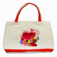Heart Red Love Valentine S Day Classic Tote Bag (red) by Nexatart