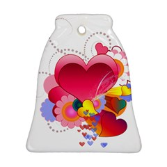 Heart Red Love Valentine S Day Bell Ornament (two Sides) by Nexatart