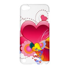 Heart Red Love Valentine S Day Apple Ipod Touch 5 Hardshell Case by Nexatart