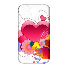 Heart Red Love Valentine S Day Samsung Galaxy S4 Classic Hardshell Case (pc+silicone) by Nexatart