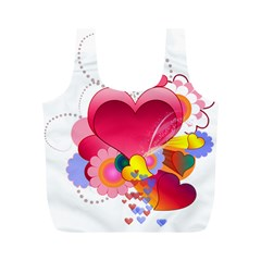 Heart Red Love Valentine S Day Full Print Recycle Bags (m)