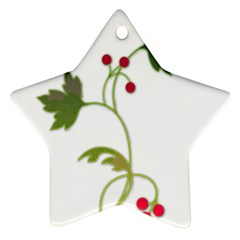Element Tag Green Nature Star Ornament (two Sides)