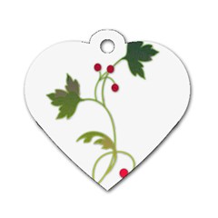 Element Tag Green Nature Dog Tag Heart (one Side) by Nexatart