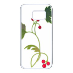 Element Tag Green Nature Samsung Galaxy S7 White Seamless Case