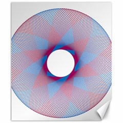 Spirograph Pattern Drawing Design Canvas 20  X 24