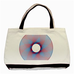 Spirograph Pattern Drawing Design Basic Tote Bag (two Sides)