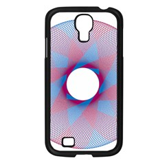 Spirograph Pattern Drawing Design Samsung Galaxy S4 I9500/ I9505 Case (black)