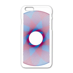 Spirograph Pattern Drawing Design Apple Iphone 6/6s White Enamel Case by Nexatart