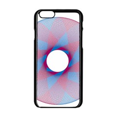 Spirograph Pattern Drawing Design Apple Iphone 6/6s Black Enamel Case by Nexatart