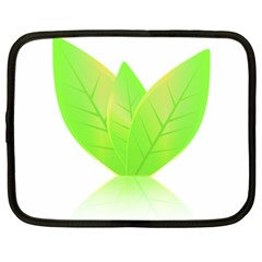 Leaves Green Nature Reflection Netbook Case (large) by Nexatart