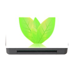 Leaves Green Nature Reflection Memory Card Reader With Cf by Nexatart