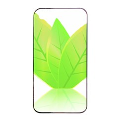 Leaves Green Nature Reflection Apple Iphone 4/4s Seamless Case (black) by Nexatart