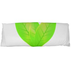 Leaves Green Nature Reflection Body Pillow Case (dakimakura) by Nexatart