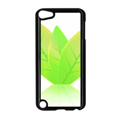 Leaves Green Nature Reflection Apple Ipod Touch 5 Case (black) by Nexatart