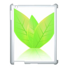 Leaves Green Nature Reflection Apple Ipad 3/4 Case (white) by Nexatart