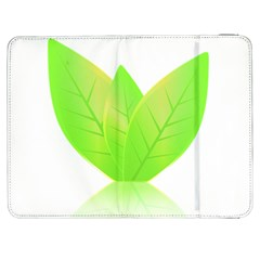 Leaves Green Nature Reflection Samsung Galaxy Tab 7  P1000 Flip Case by Nexatart