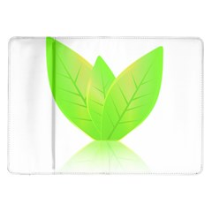 Leaves Green Nature Reflection Samsung Galaxy Tab 10 1  P7500 Flip Case