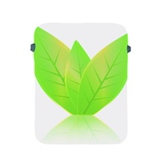 Leaves Green Nature Reflection Apple Ipad 2/3/4 Protective Soft Cases by Nexatart