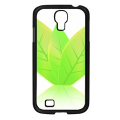 Leaves Green Nature Reflection Samsung Galaxy S4 I9500/ I9505 Case (black) by Nexatart