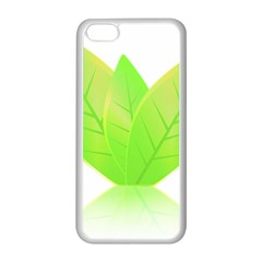 Leaves Green Nature Reflection Apple Iphone 5c Seamless Case (white) by Nexatart
