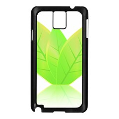 Leaves Green Nature Reflection Samsung Galaxy Note 3 N9005 Case (black)