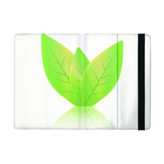 Leaves Green Nature Reflection Ipad Mini 2 Flip Cases