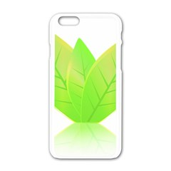 Leaves Green Nature Reflection Apple Iphone 6/6s White Enamel Case by Nexatart