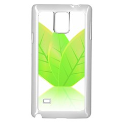 Leaves Green Nature Reflection Samsung Galaxy Note 4 Case (white)