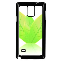 Leaves Green Nature Reflection Samsung Galaxy Note 4 Case (black)