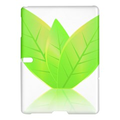 Leaves Green Nature Reflection Samsung Galaxy Tab S (10 5 ) Hardshell Case  by Nexatart