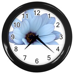 Daisy Flower Floral Plant Summer Wall Clocks (black)