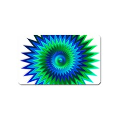 Star 3d Gradient Blue Green Magnet (name Card)