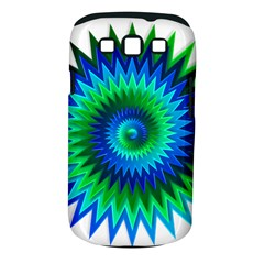 Star 3d Gradient Blue Green Samsung Galaxy S Iii Classic Hardshell Case (pc+silicone) by Nexatart