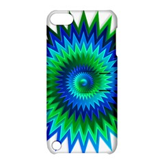 Star 3d Gradient Blue Green Apple Ipod Touch 5 Hardshell Case With Stand by Nexatart