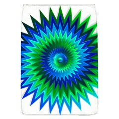 Star 3d Gradient Blue Green Flap Covers (l)  by Nexatart