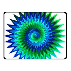 Star 3d Gradient Blue Green Double Sided Fleece Blanket (small)  by Nexatart