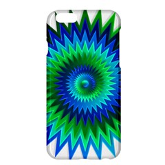 Star 3d Gradient Blue Green Apple Iphone 6 Plus/6s Plus Hardshell Case by Nexatart