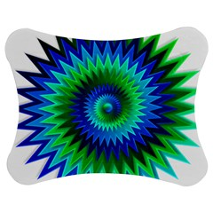 Star 3d Gradient Blue Green Jigsaw Puzzle Photo Stand (bow) by Nexatart