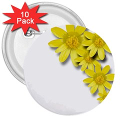 Flowers Spring Yellow Spring Onion 3  Buttons (10 Pack)  by Nexatart