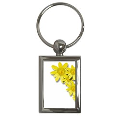 Flowers Spring Yellow Spring Onion Key Chains (rectangle)  by Nexatart