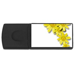 Flowers Spring Yellow Spring Onion Usb Flash Drive Rectangular (4 Gb) by Nexatart