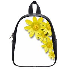 Flowers Spring Yellow Spring Onion School Bags (small)  by Nexatart