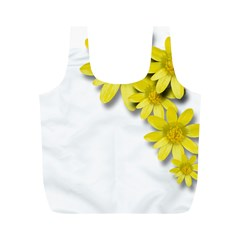 Flowers Spring Yellow Spring Onion Full Print Recycle Bags (m)