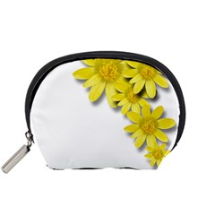 Flowers Spring Yellow Spring Onion Accessory Pouches (small)  by Nexatart