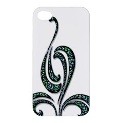 Scroll Retro Design Texture Apple Iphone 4/4s Hardshell Case by Nexatart