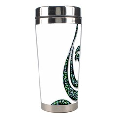 Scroll Retro Design Texture Stainless Steel Travel Tumblers by Nexatart